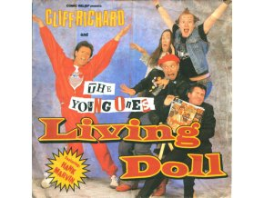 Cliff Richard And The Young Ones Featuring Hank Marvin ‎– Living Doll 7''