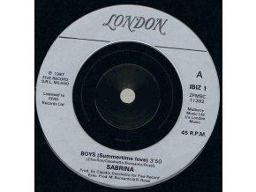 Sabrina – Boys (Summertime Love) 7''