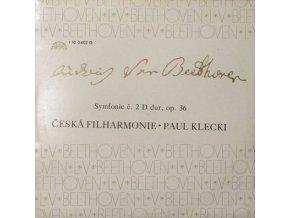 Ludwig van Beethoven, Česká Filharmonie*, Paul Klecki* – Symfonie Č. 2 D Dur, Op. 36