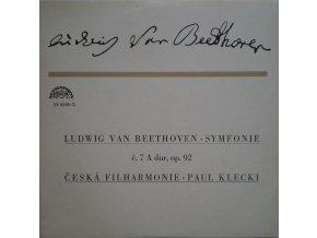 Ludwig van Beethoven, Česká Filharmonie*, Paul Klecki* – Symfonie Č. 7 A Dur, Op. 92
