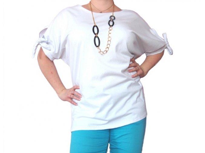 Bavlněné tričko s nastavitelnými rukávy