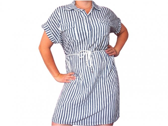 Lehké proužkované šaty