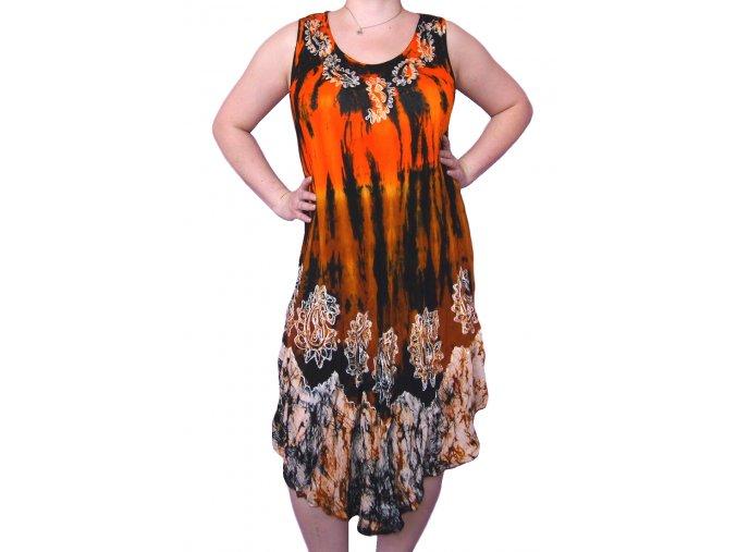 Indické barevné šaty