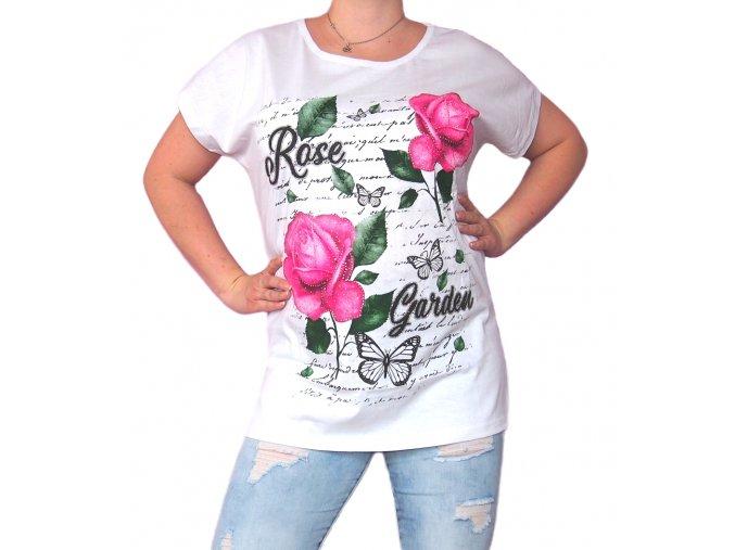 Bavlněné tričko Rose Garden