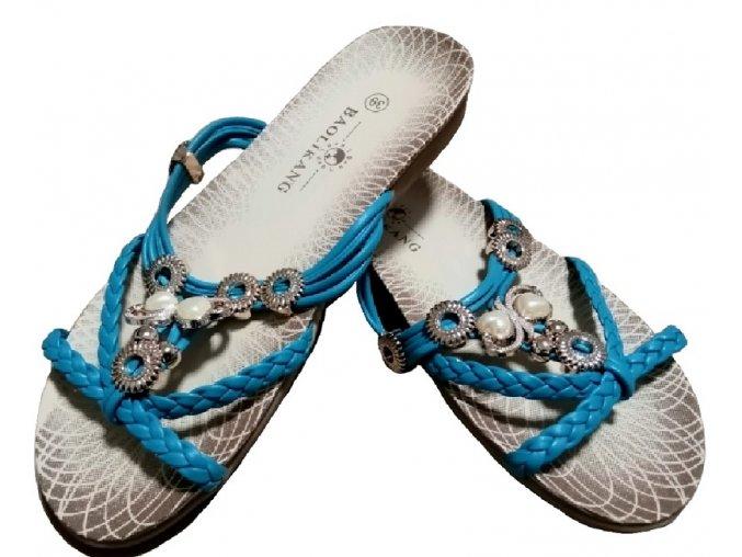 Dámské nazouváky Kasandra (modré)