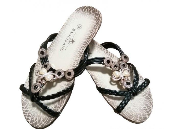 Dámské nazouváky Kasandra (černé)