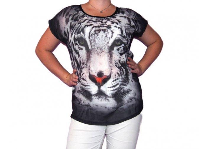 Tričko s bílým tygrem