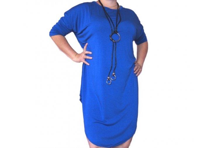 Dlouhé dámské šaty ve stylu tuniky