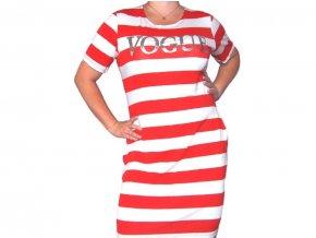 Proužkované šaty Vogue