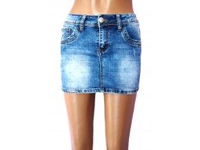 Moderní džínová sukně