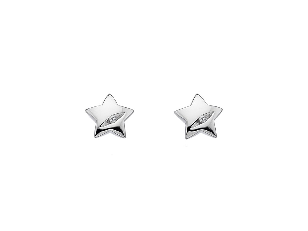 Stříbrné náušnice Hot Diamonds Shooting Stars DE323