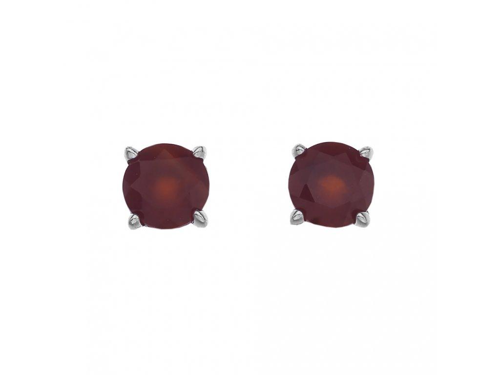 Stříbrné náušnice Hot Diamonds Anais Karneol AE007
