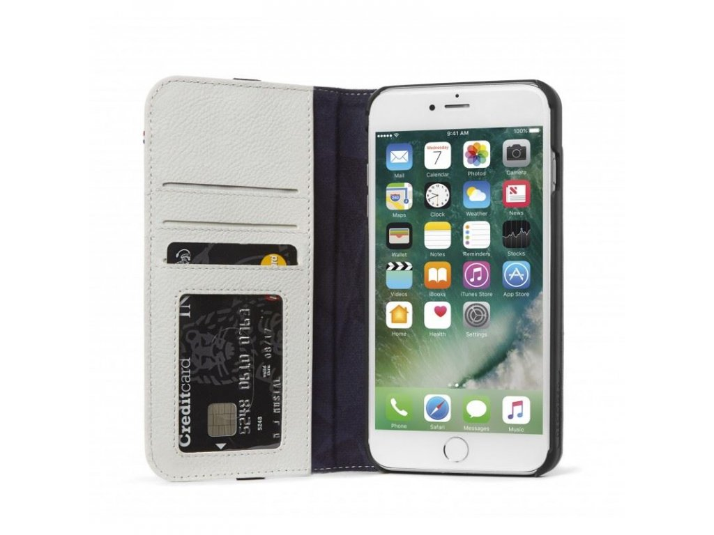 Decoded Leather Wallet C.2, grey -iPhone 8+/7+/6s+