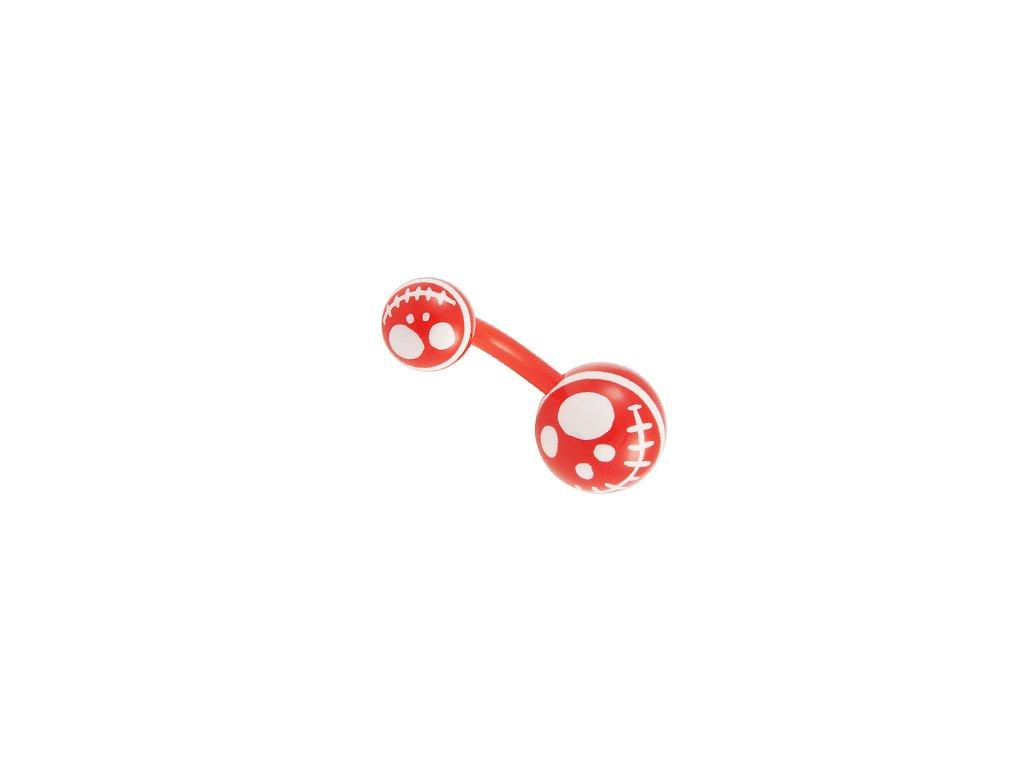 13498 piercing do pupiku uncb33 red white