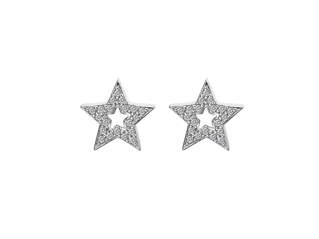 Stříbrné náušnice Hot Diamonds Star Micro Bliss DE554