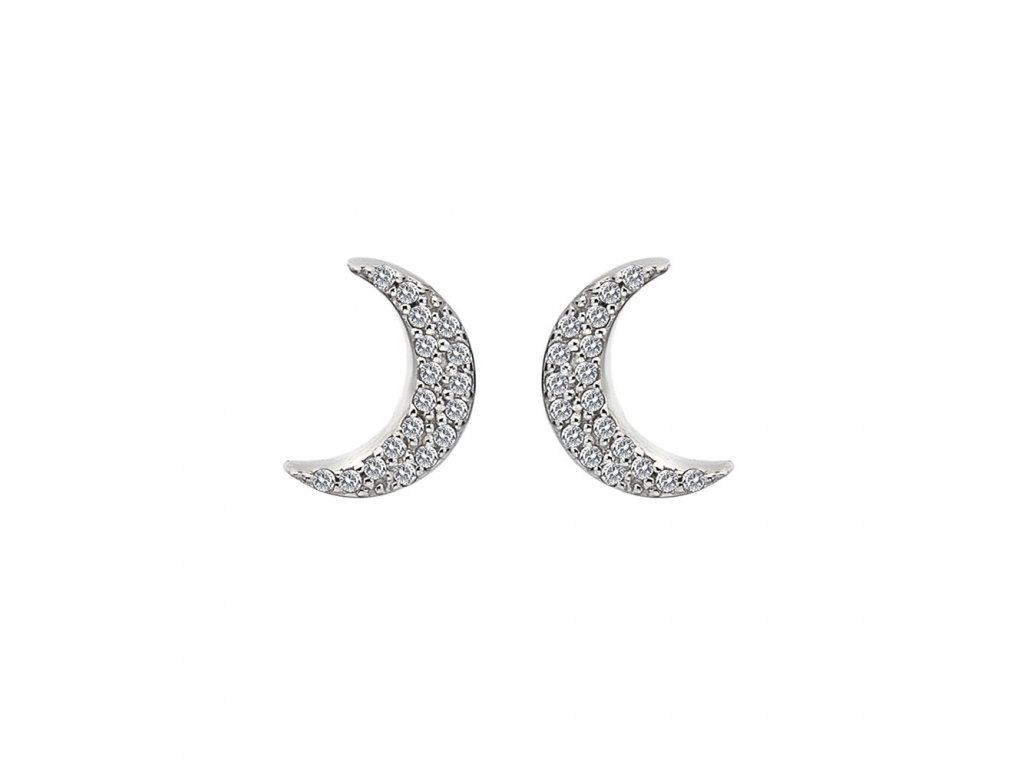 Stříbrné náušnice Hot Diamonds Crescent Micro Bliss DE553