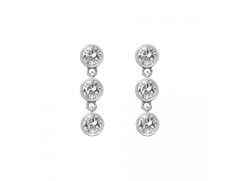 Stříbrné náušnice Hot Diamonds Willow DE585