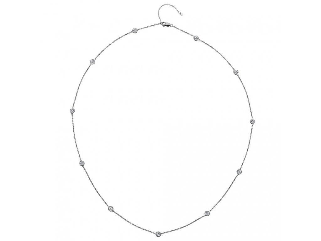 Stříbrný náhrdelník Hot Diamonds Willow 60 DN131