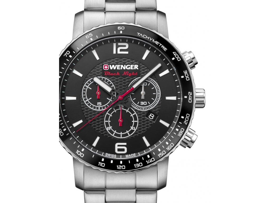 Pánské hodinky Wenger 01.1843.103 Roadster Black Night