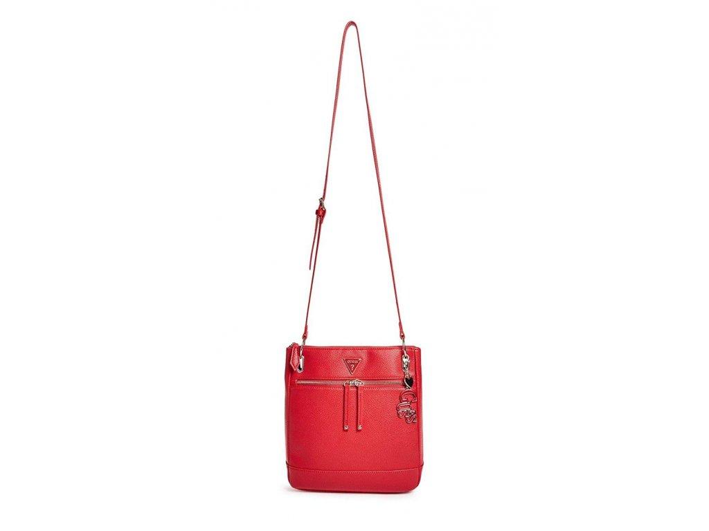 GUESS kabelka Carmina Large Crossbody červená