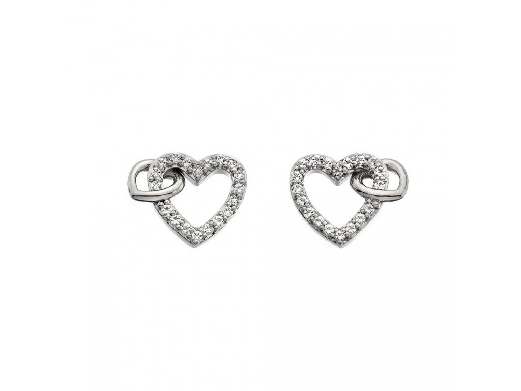 Stříbrné náušnice Hot Diamonds Flora DE605