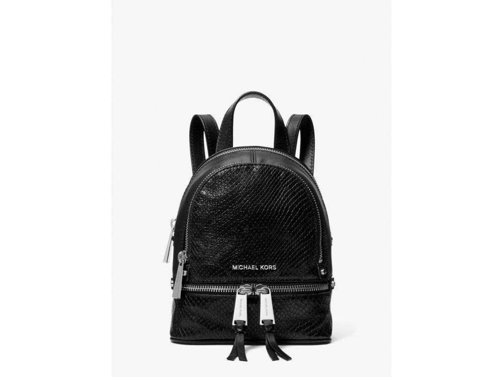 Rhea Mini Python Embossed Leather Backpack