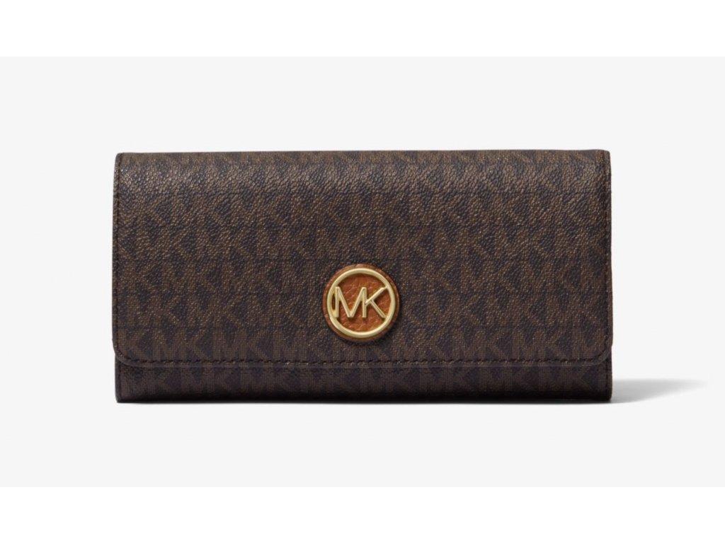 Peněženka Michael Kors Logo Wallet hnědá