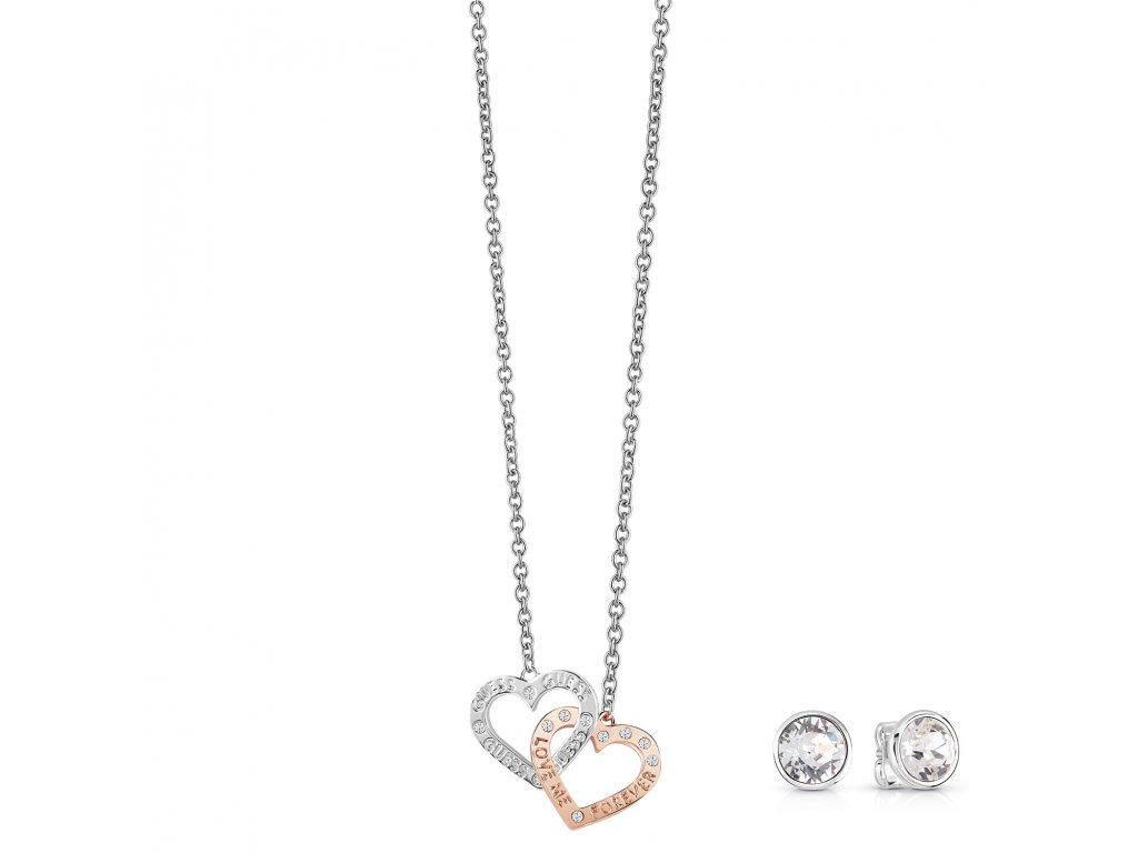 Guess náhrdelník a náušnice GEJUBT01043 set