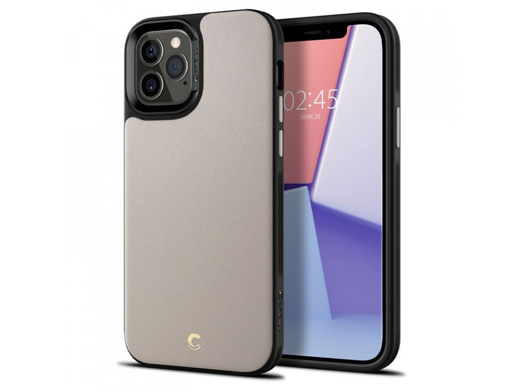 Spigen Leather Brick, stone - iPhone 12/Pro