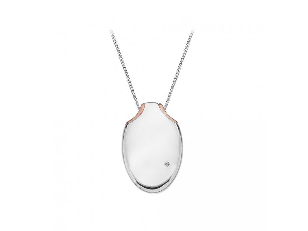 Stříbrný přívěsek Hot Diamonds Lunar Oval Gold