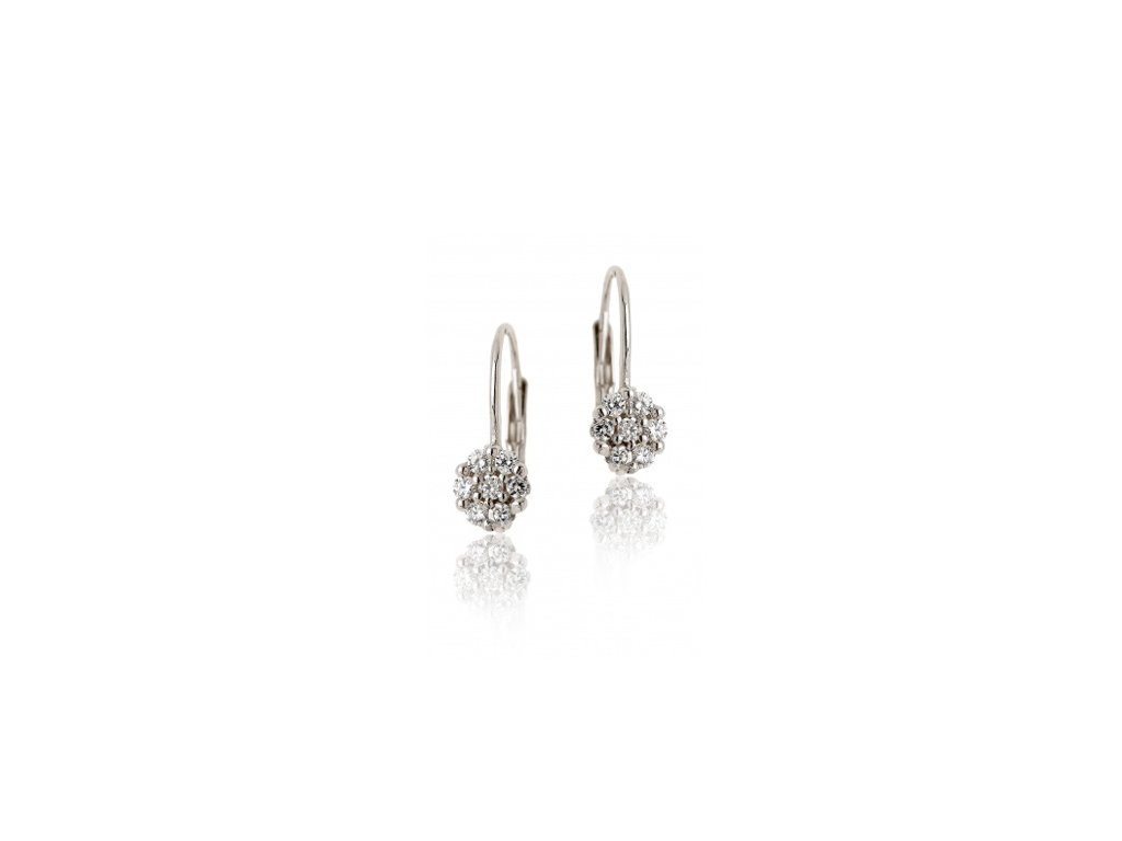 Naušnice stříbrné E0003 crystal
