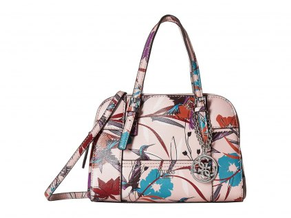 GUESS Huntley Small Cali Satchel pink floral