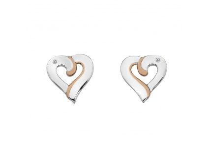 Náušnice Hot Diamonds Breeze RG DE546