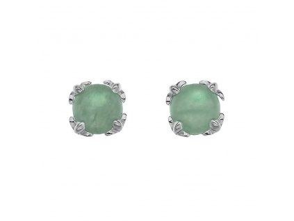 Stříbrné náušnice Hot Diamonds Anais zelený Aventurín AE003