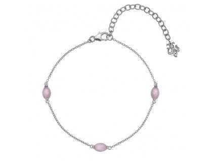 Náramek Hot Diamonds Anais růžový křemen AB010