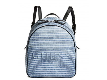 LAKEN STRIPED DENIM BACKPACK modrý