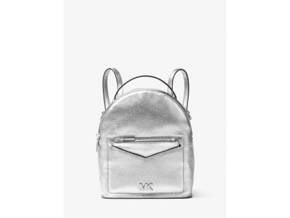 Jessa Small Metallic Pebbled Leather Convertible Backpack