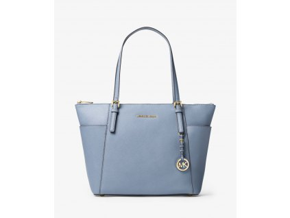 Jet Set Large Top Zip Saffiano Leather Tote blue