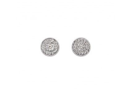 Stříbrné náušnice Hot Diamonds Flora DE582