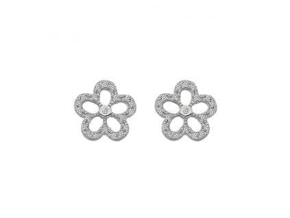 Stříbrné náušnice Hot Diamonds Daisy DE583