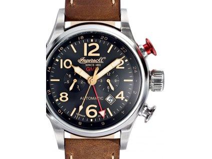Pánské hodinky Ingersoll IN3218BK Lawrence GMT