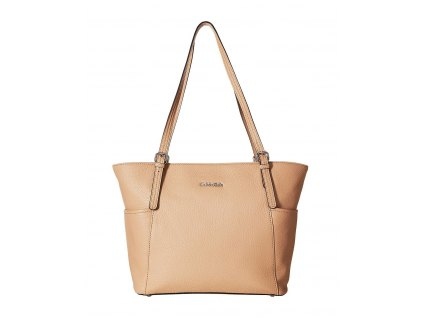 Calvin Klein Pebble Leather Tote oat