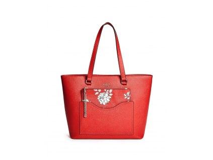 GUESS kabelka Cianna Logo Tote červená