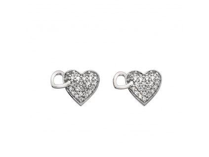 Stříbrné náušnice Hot Diamonds Flora DE607