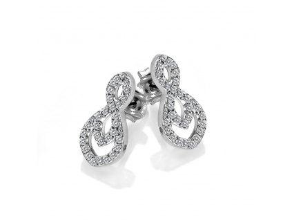 Stříbrné náušnice Hot Diamonds Lily DE609