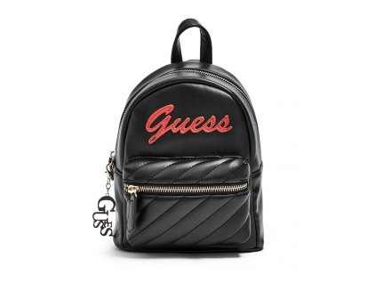 GUESS BATOH FELIZ LOGO CONVERTIBLE MINI BACKPACK černý