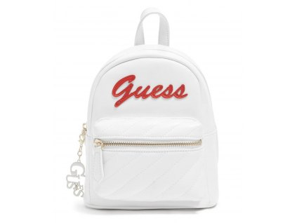 GUESS BATOH FELIZ LOGO CONVERTIBLE MINI BACKPACK bílý