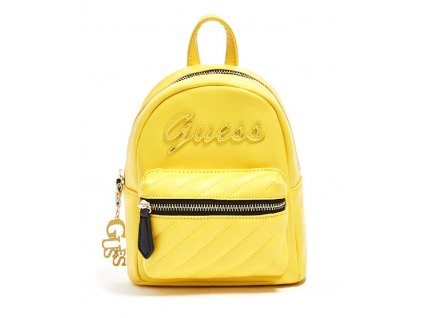 GUESS BATOH FELIZ LOGO CONVERTIBLE MINI BACKPACK žlutý