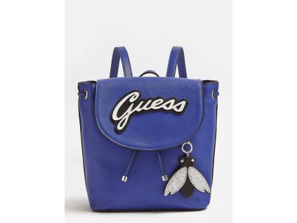 VARSITY POP BACKPACK WITH FLY CHARM modrý