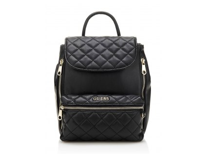 ALANIS MEDIUM QUILTED BACKPACK černý
